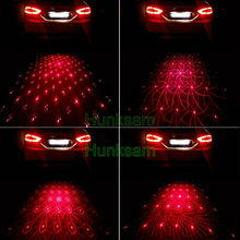 Auto Motor Anti Collision Rear-end Laser Projection Fog Light Safety Warning Lamp Lens #5827