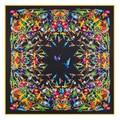 2016 Nueva Llegada de la Marca de Lujo 100% Seda de la Tela Cruzada de la Mujer Bufandas Cuadradas de La Bufanda de aves que consagraba el fénix de la Bufanda de Seda y chales Hijab