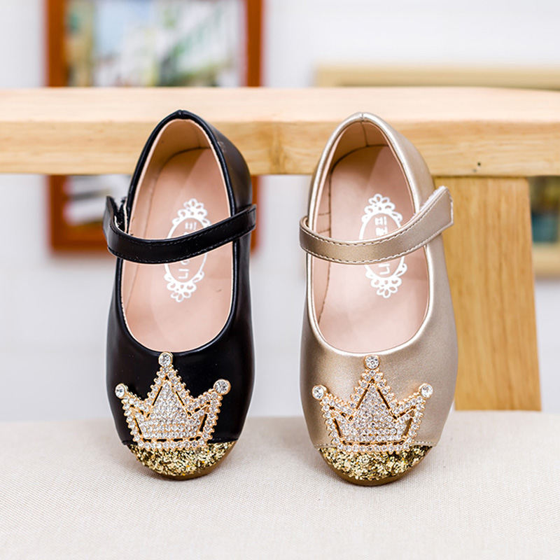 Aliexpress.com : Buy princess baby shoes crown gold rhinestones ...