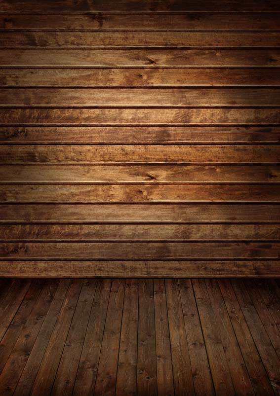 5x7FT Chocolate Brown Timber Wall Pallets Wooden Floor