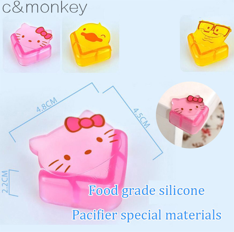 8Pcs/lot Soft Baby Safe Corner Protector Baby Kids Love hello kitty silicone Table Desk Corner Guard Children Safety Edge Guards