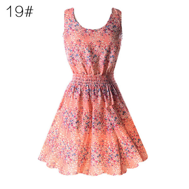 HOT SALE Colorful Summer Beach Sleeveless Dress
