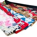 Ткань Печатных Цветов Японские Гейши Кимоно ОБИ Пояса Створки Галстук Ленты Пользовательские Vintage Пояс 200-422