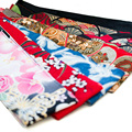 Fabric Printed Flower OBI Belt Japanese Geisha Kimono Sash Tie Ribbon Custom Vintage Waistband 200-422