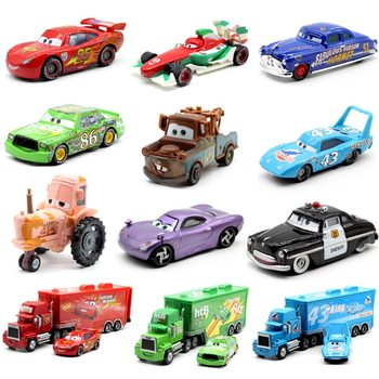 24Style Disney Pixar Cars 2 Storm Cars 3 Mater Vehicle 1:55 Diecast Metal Alloy Toys Model Car Birthday Gift Toy For Kids Boy cars disney pixar cars jackson storm doc hudson mater 1 55 diecast metal alloy model car birthday gift disney toys for children