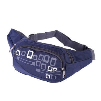 Outdoor Large Capacity Running Waist Bags Women Men Polyester Zipper 6.6 Inch Phone Case Pouch Holder Cycling Fitness Gym Bag image
