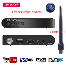 1 Year Channels Europe Spain Satellite Receiver D1S DVB-S2 Receptor H.264 HD 1080P Support PowerVu Biss Key Satellite TV Decoder цена и фото