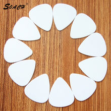 SOACH New hot 10pcs / lot 0.71mm white high quality guitar picks Guitar neckAccessories tuner stand guitar parts(China)