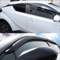 Black Silver Window Visor Sun Guard Rain Vent Deflector Shield Accessories For Toyota C HR CHR