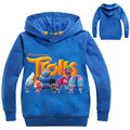 Children Cartoon Trolls Hoodies & Sweatshirts Boys/Girls Cotton Topwear Kids Outerwear Kids long sleeve Clothing (3-7Y) H685