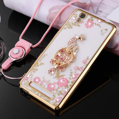 Mobile cell phones bags for Gionee Fashion F103 Soft TPU Artificial diamonds Rhinestones Cover Cell Phones Shell Case