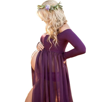 f4c78b7f8 Vestido de embarazo accesorios de fotografía vestidos para sesión de fotos  Maxi Vestido vestidos ropa de maternidad para mujeres embarazadas Premama  Vestido