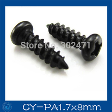 HOT SALE!! 300pcs/ cctv Camera screws, Round head PA1.7 * 8mm