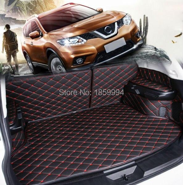 Pour 5 sièges 2014-2016 n-issan Rogue x-trail T32 tapis de coffre de voiture arrière tapis de coffre durable