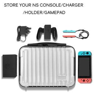 Image 2 - Bolsa para Nintend consola Switch NS caso al aire libre de viaje de almacenamiento caja de la cáscara del ABS maleta para Nitendo accesorios de interruptor