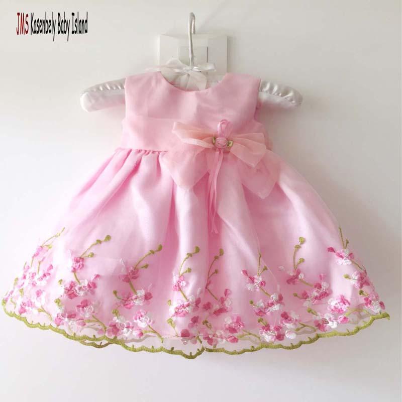 JMS Kasenbely Nueva Llegada Elegante Chica Flor Organza Vestidos - Ropa de bebé