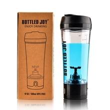 Бутилированный joy Сывороточный Протеин шейкер бутылка аккумуляторная Спортивная бутылка для воды электрический шейкер тренажерный зал протеин 450 мл