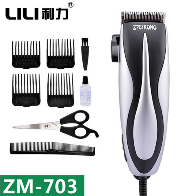 LILI Electric Haircut Professcinal Titanium Steel Blade Hair Clipper Hair Shaving Trimmer Barber Hairdress Machines ZM-703