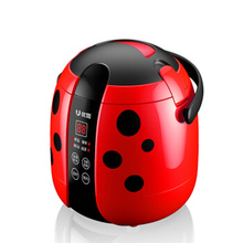 Smart-Rice-Cooker with 24H Reservation Best Non-Stick-Liner/led-Display 3-Colors Beetle-Shaped-Design