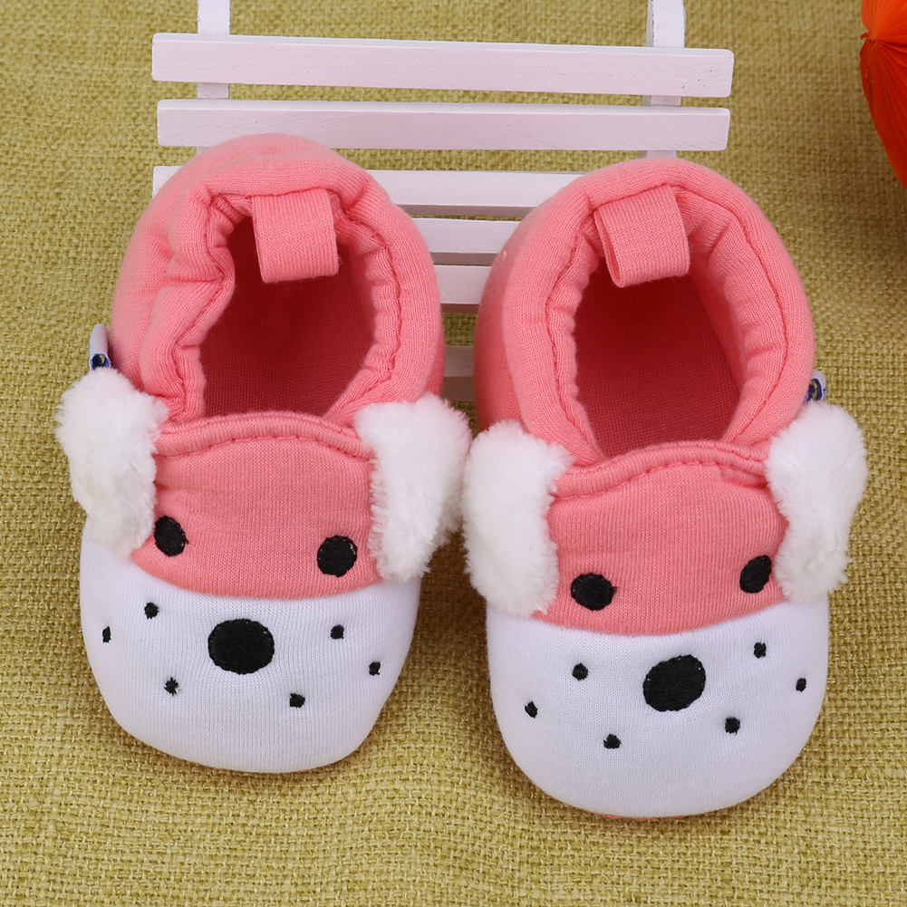 Boy Shoes Prewalkers Knitted Toddler Newborn Girl Baby Warm Cotton Soft Animal-Printed