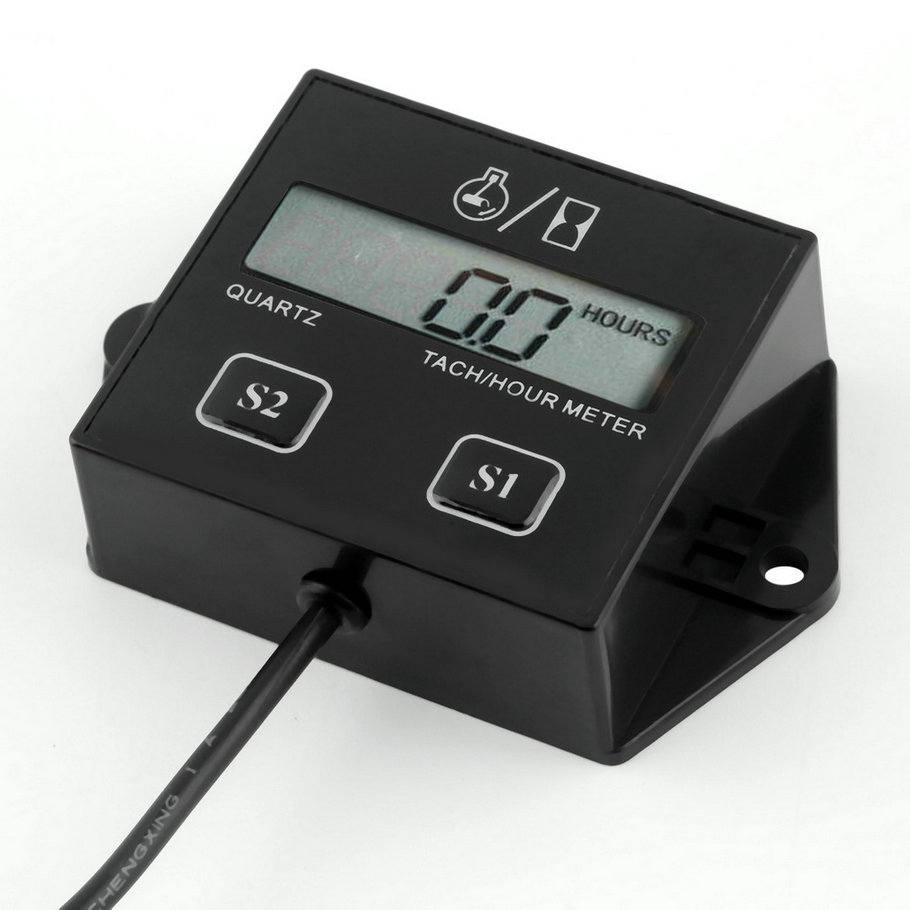Digital Engine Tach Hour Meter Tachometer Gauge Inductive Display Motorcycle Motor Marine chainsaw pit Boat NOT included battery цена
