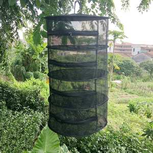 Fishing-Net Hanger Flowers Mesh Drying-Rack Zippers-Dryer Folding with Tray Tackle-Accessory-Tool