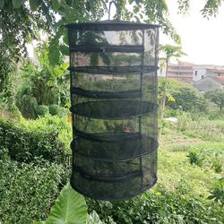 Herb secagem dobrável rede de pesca com zíperes secador malha bandeja de secagem rack flores cabide peixe net equipamento acessório ferramenta