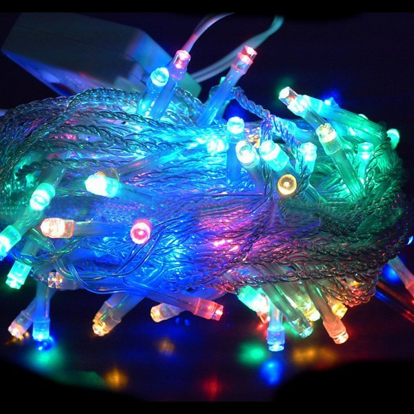 4pcs/lot, 100 LED String Light Multicolor 10M 220V Holiday Decoration Light for Romantic Valentine Day Free Shipping 4pcs /lot