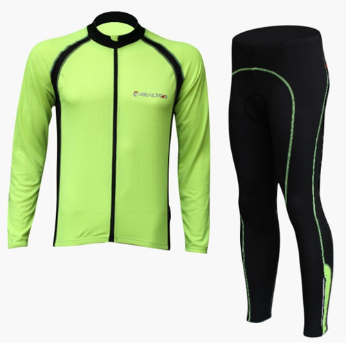 2017 Menss Cycling set Factory Direct Sale Breathable High Quality Cycling Jersey+ Cycling Shorts Long Sleeve Cycling Clothing
