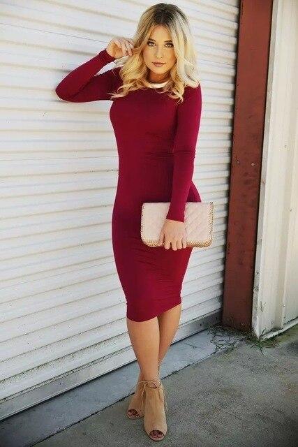 68329aa5dd7 EBAY Amazon WISH Best Sellers Fund Long Sleeve Close Reveal Back Dress LH159