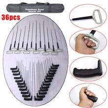 2016 super pdr rod 36pc Paintless Dent Repair Kit pdr hook Car body dent repair tools