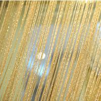 String Curtain Beautiful High class Luxury Gold Polyester String Curtain Passageway/Door Decorate.Wedding Supply Curtain