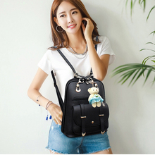 High Quality Women Backpacks 2018 Hot Sale Fashion Causal School Bags Beaded Shoulder Bag PU Leather Backpacks Female OR804231