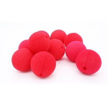 10pcs Red Sponge clown nose Cosplay props party funny stage Performance props festival make up clown nose supplies