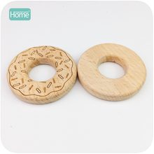 MamimamiHome Baby Montessori Educational Toys Beech Donuts 10pc DIY Nursing Teething Accessories Bracelets Baby Wooden Rattles(China)