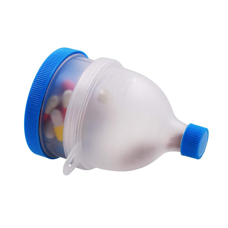 UPORS 2 Layers Protein Powder Funnel Portable Fill Funnel Gym Partner for Water Bottle and Protein Shaker Bottle BPA Free image
