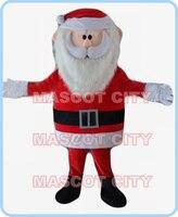 mascot Christmas santa claus mascot costume adult size cartoon holiday theme carnival fancy dress 2589