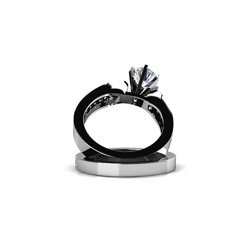 AINUOSHI 925 Sterling Silver Δαχτυλίδια αρραβώνων - Κοσμήματα μόδας - Φωτογραφία 3