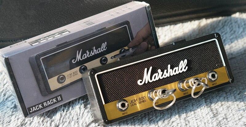 New Style Marshall Key Holder Rock Electric Guitar Speaker Key Hanging Key Hook Storage Keychain Vintage JCM800 Bullet Jack