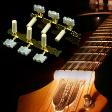 New 2pcs Classical Guitar Tuners Tuning Keys Pegs Machine Heads Steel Goden Tone Guitar Parts