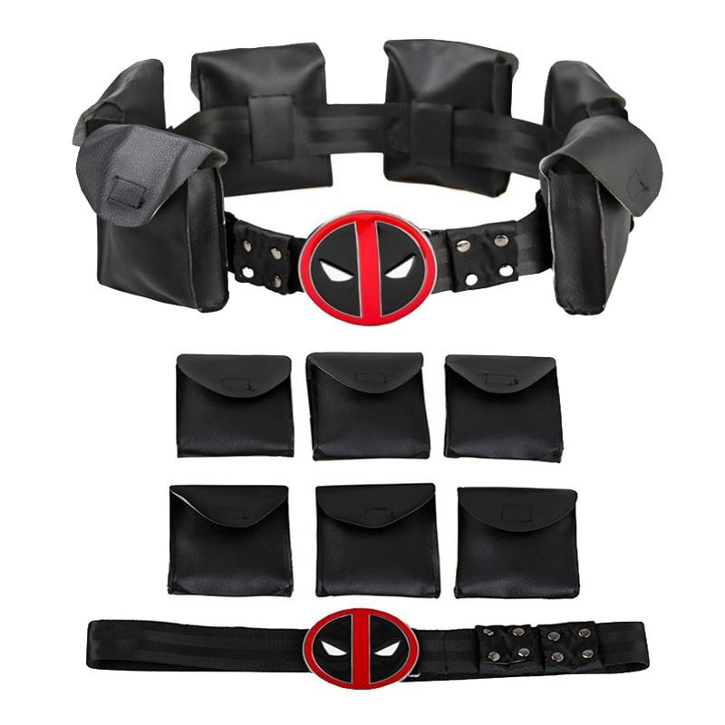 New Deadpool X-Men Superhero Black Metal Belt Accessories Cosplay Costume Props Halloween Gift