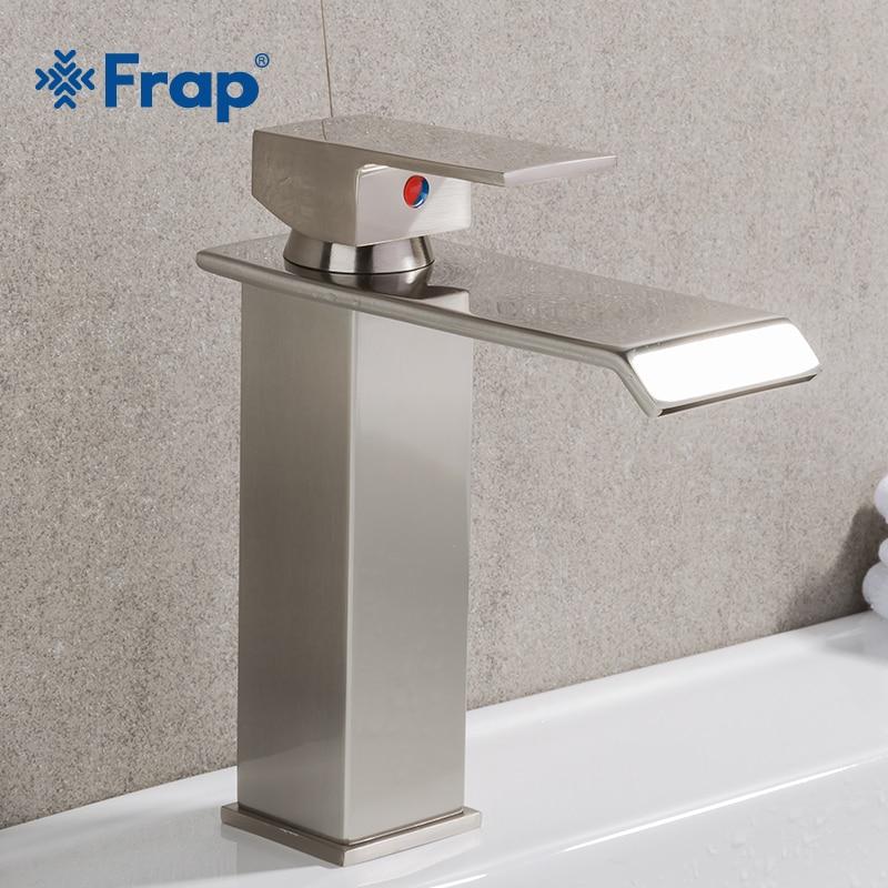 FRAP недавно смеситель Ванная комната Водопад смеситель Одной ручкой латунь кран горячей и холодной ванны смесители площади краны Y10144