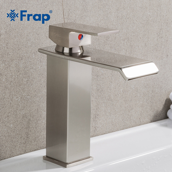 FRAP Newly Basin Faucet Bathroom Waterfall Faucet Mixer Single handle Brass Faucet Hot and Cold Bath Mixers Square Taps Y10144