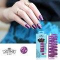 100% Tiras de Esmalte de Uñas Brillante Etiqueta Brillo Púrpura Real 16 UNIDS Remiendo Del Arte Del Clavo Decoración de Uñas de Moda