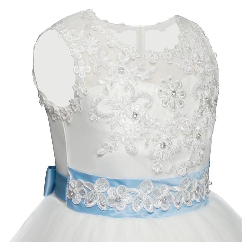 dd265ecf2 קנו בנות ' בגדים | Flower Girl White Dress Christmas Party Kids ...