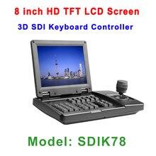 8 дюймов HD TFT ЖК-дисплей Экран 3 оси HDSDI экранной клавиатуре контроллер с HDMI SDI CVBS Выход для безопасности конференция камера Системы