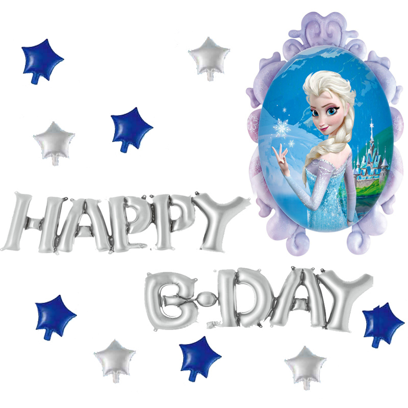 Disney Frozen Minnie Mickey Mouse Aluminium Foil Balloons birthday party decorations adult Cartoon Theme ballons decoration