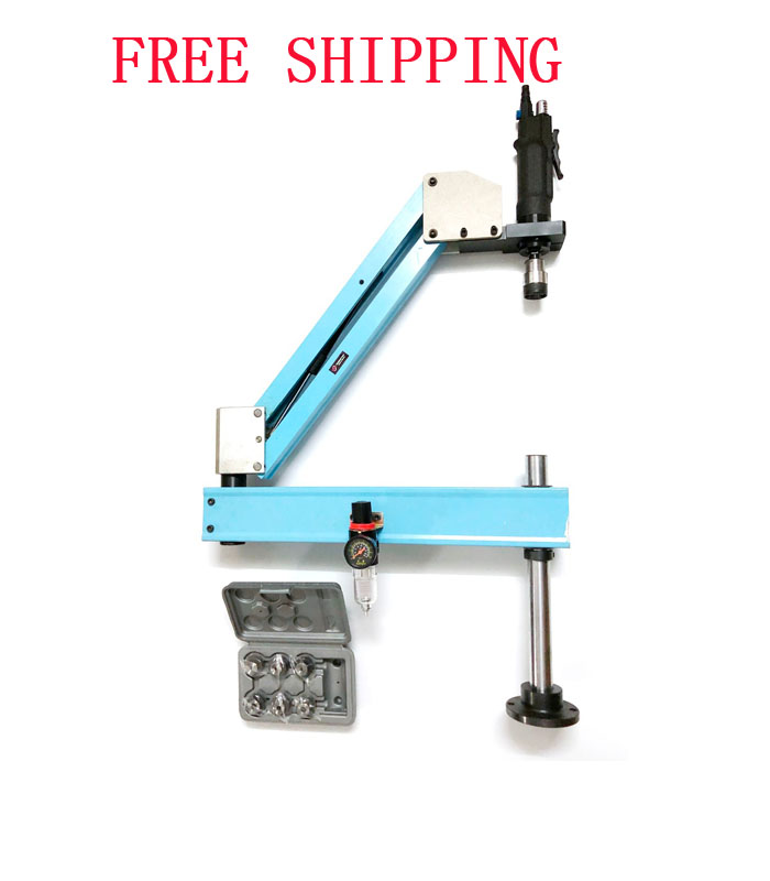 M3-M12 Vertical Type Pneumatic Air Tapping Tools Machine-working Taps Threading Machine Tapping Capacity Pneumatic Free Shipping