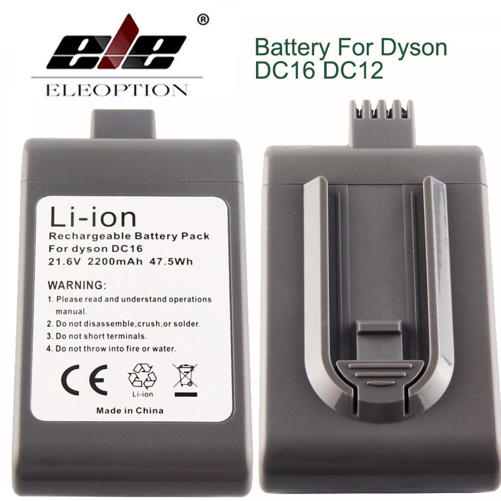 ELE ELEOPTION 2PCS 2200mAh 21 6V Battery For Dyson DC16 DC12 Vacuum Cleaner 12097 BP01 912433