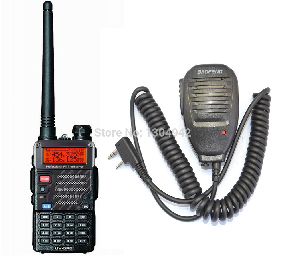 BAOFENG UV-5RB VHF/UHF Dual Band ham Walkie Talkie +BaoFeng Speaker Mic Handy Hunting Radio Receiver With HeadfoneBAOFENG UV-5RB VHF/UHF Dual Band ham Walkie Talkie +BaoFeng Speaker Mic Handy Hunting Radio Receiver With Headfone